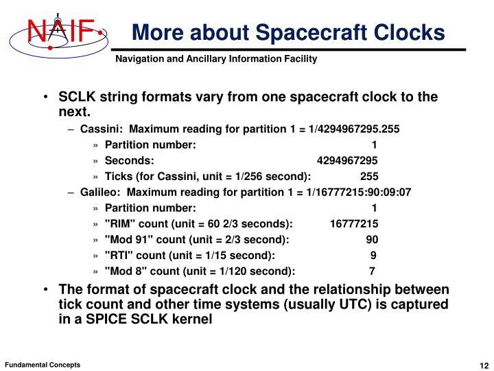 More about Spacecraft Clocks