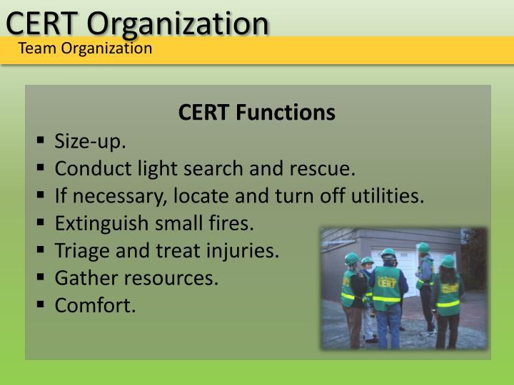 CERT Organization