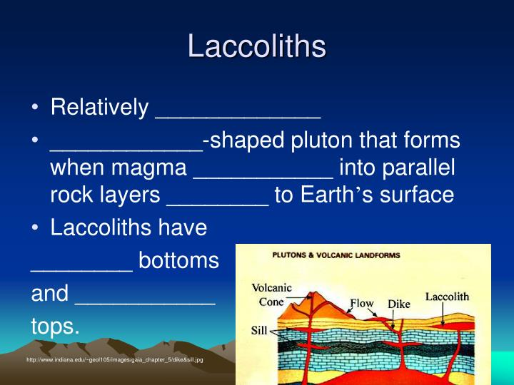 Laccoliths