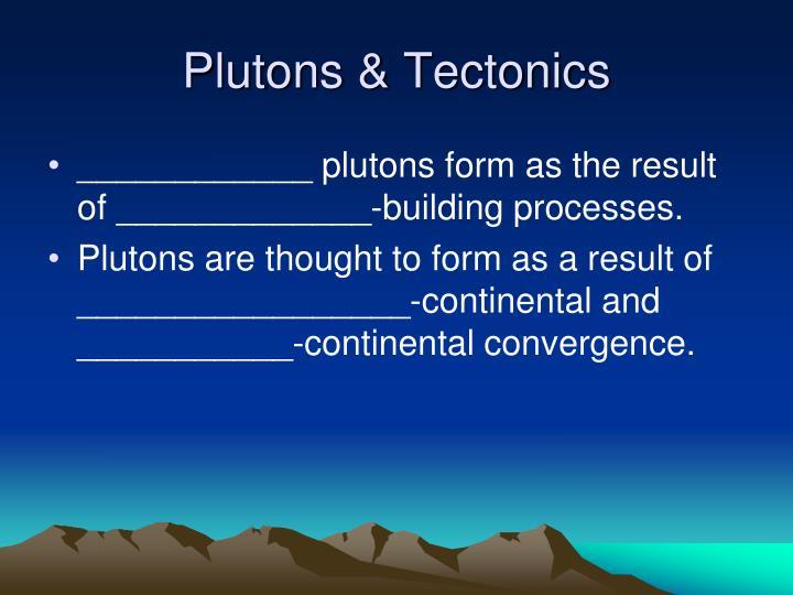 Plutons & Tectonics