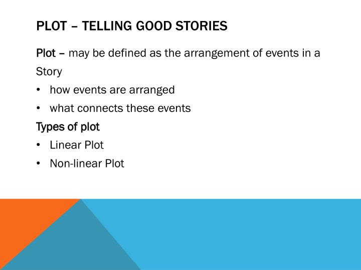 Plot – Telling good stories
