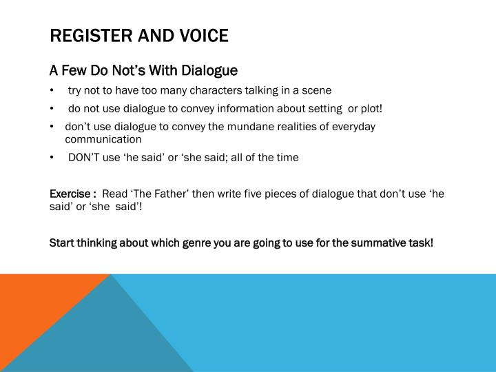 Register and Voice