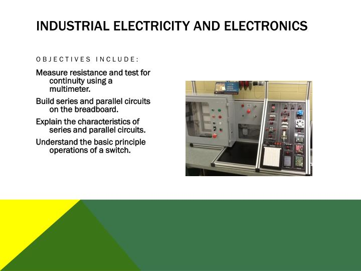 Industrial Electricity and Electronics