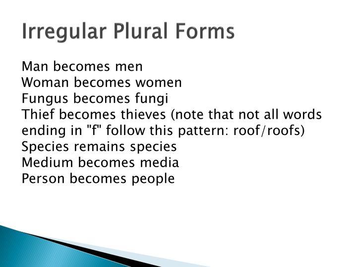 Irregular Plural Forms