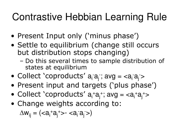 Contrastive Hebbian Learning Rule