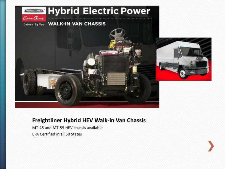 Freightliner Hybrid HEV Walk-in Van Chassis