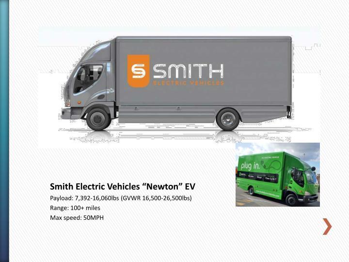 "Smith Electric Vehicles ""Newton"