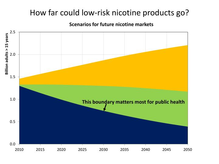 How far could low-risk nicotine products go?