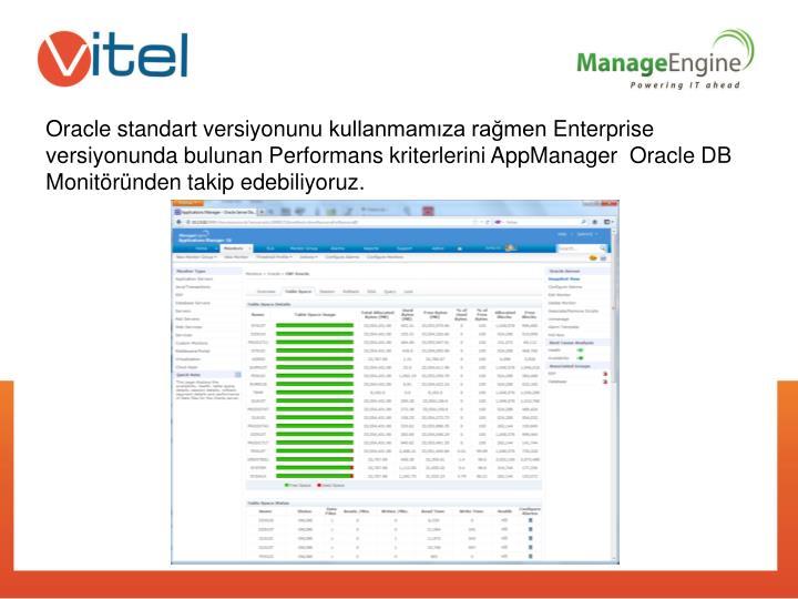 Oracle standart versiyonunu