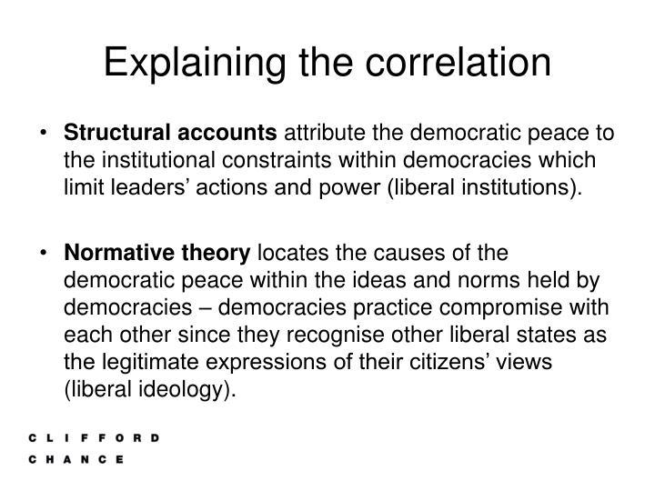 Explaining the correlation