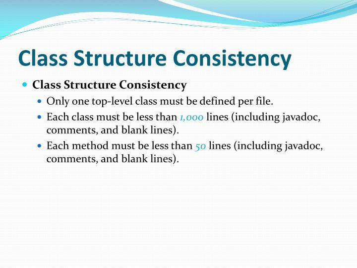 Class Structure Consistency