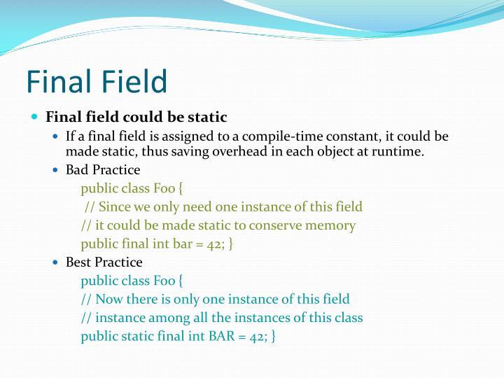 Final Field