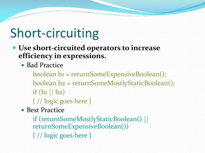 Short-circuiting