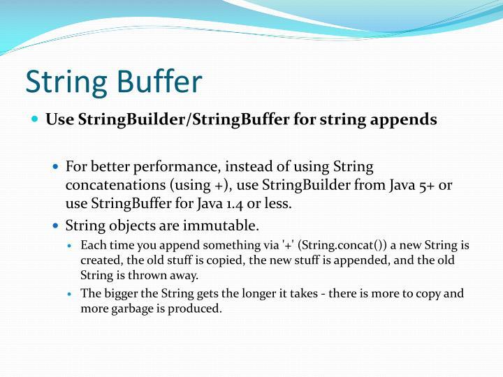 String Buffer