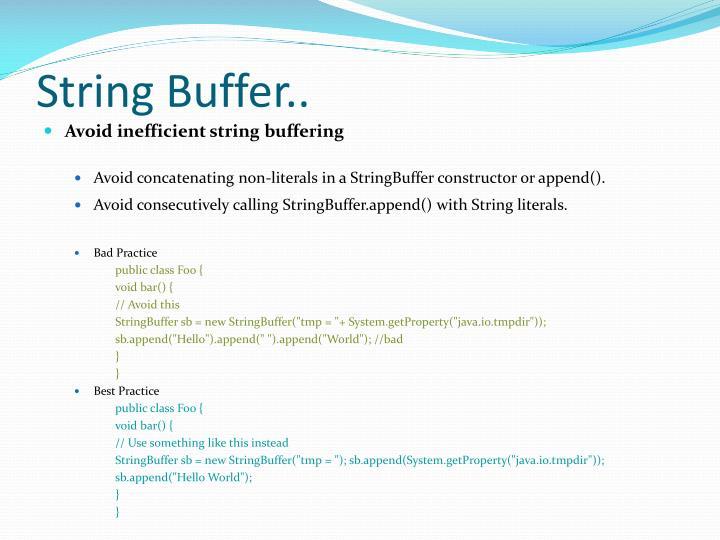 String Buffer..