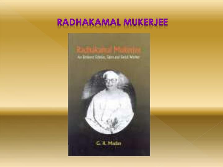 Radhakamal Mukerjee