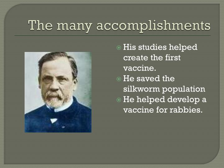 The many accomplishments