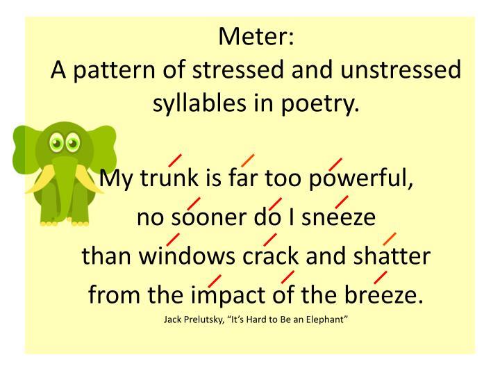 Meter: