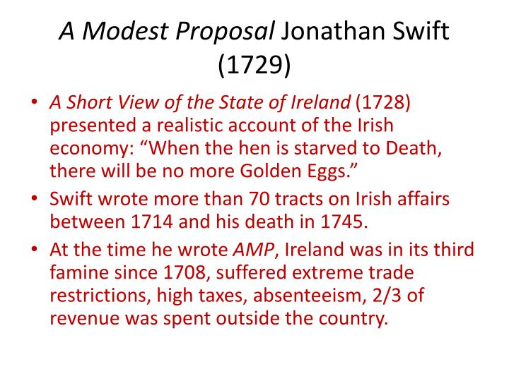 essays on a modest proposal by jonathan swift A short summary of jonathan swift's a modest proposal this free synopsis covers all the crucial plot points of a modest proposal.