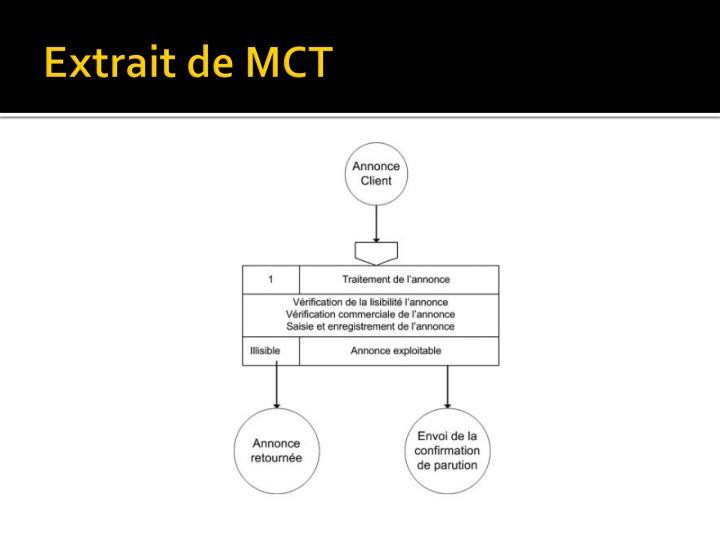 Extrait de MCT