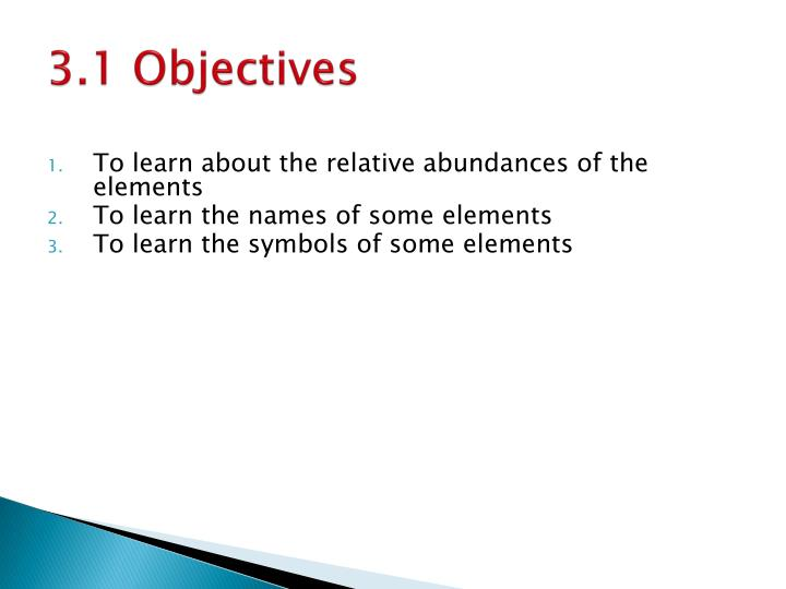3.1 Objectives