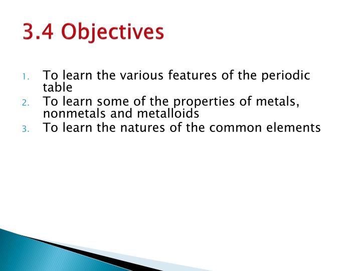 3.4 Objectives