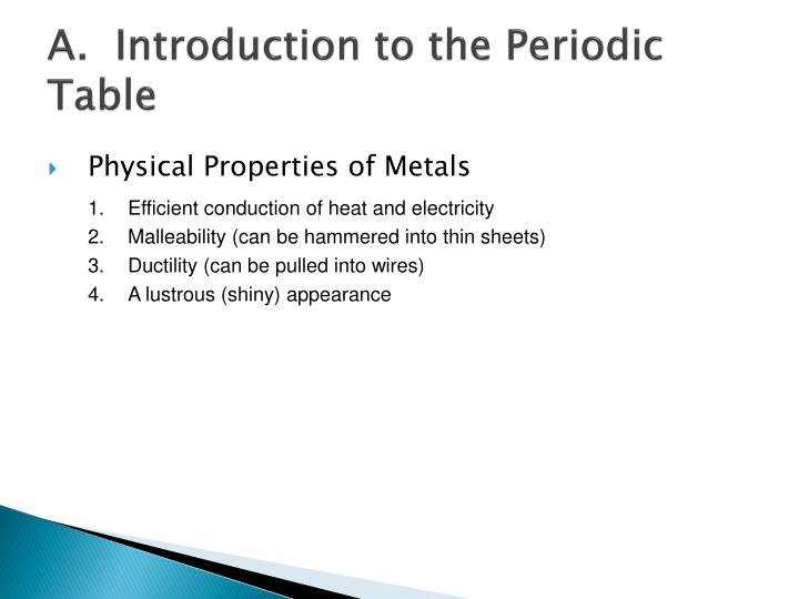 A.  Introduction to the Periodic Table