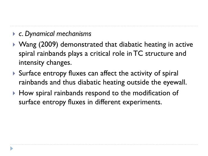 c. Dynamical mechanisms