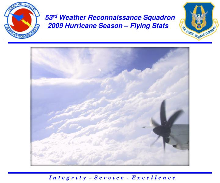 53 rd weather reconnaissance squadron 2009 hurricane season flying stats
