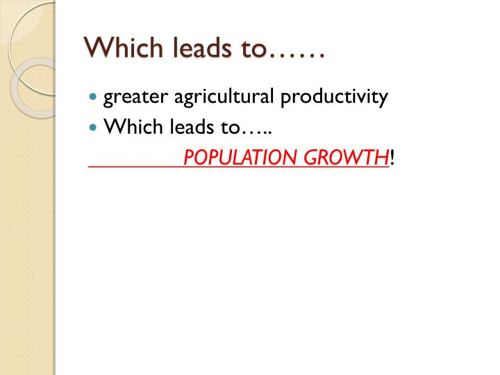 Which leads to……