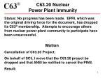 c63 20 nuclear power plant immunity