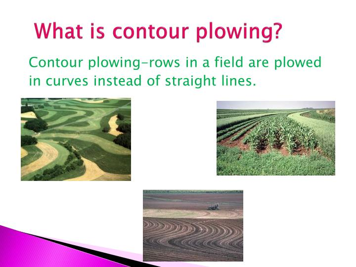 What is contour plowing?