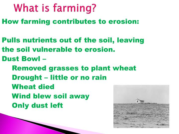 What is farming?