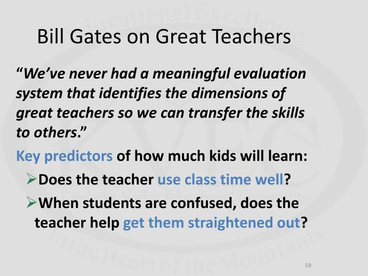 Bill Gates on Great Teachers