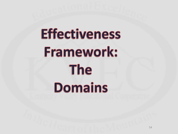 Effectiveness Framework: