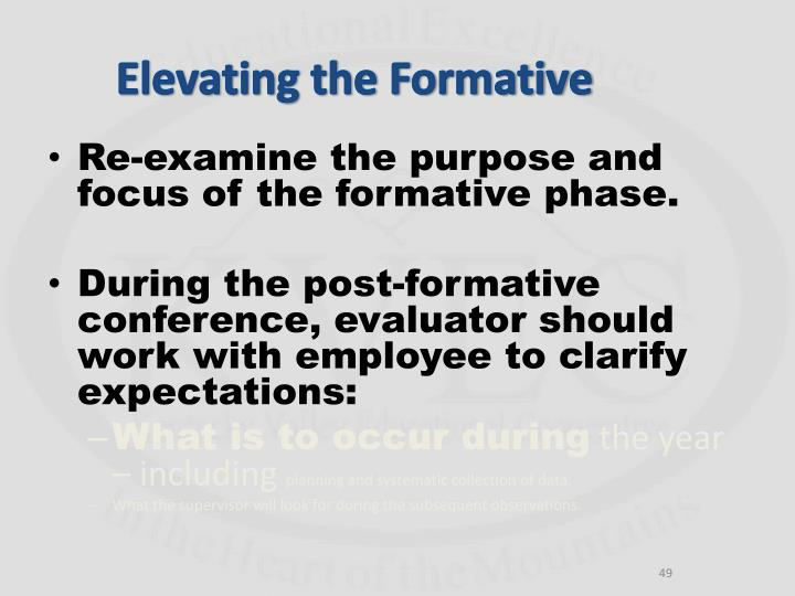 Elevating the Formative