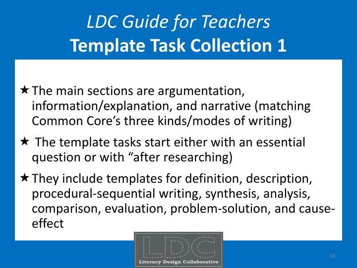 LDC Guide for Teachers