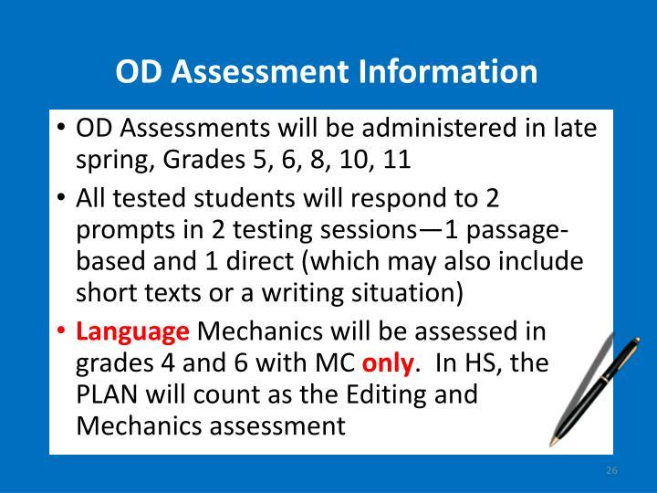OD Assessment Information