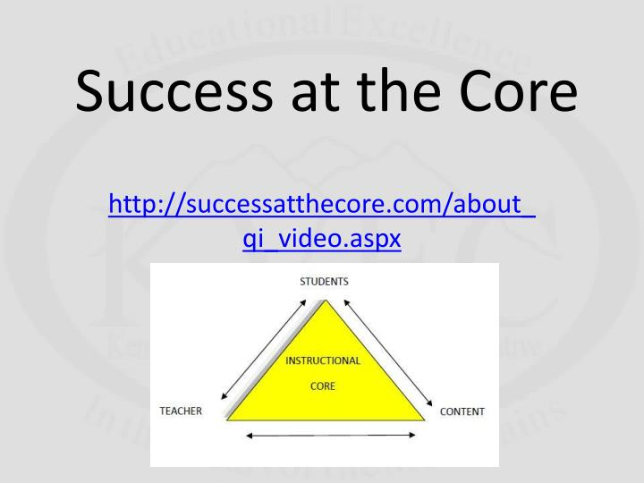 Success at the Core