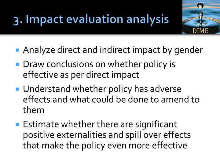 3. Impact evaluation analysis