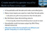 create wealth by gender equality burkina faso udry 1996