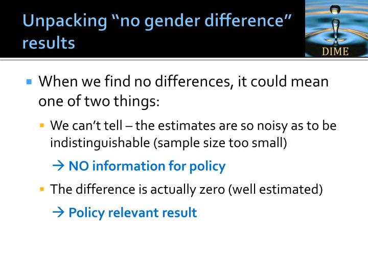 "Unpacking ""no gender difference"" results"