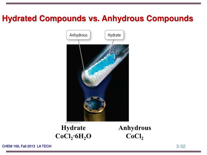 Hydrated Compounds vs