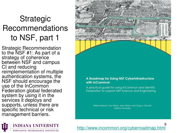 Strategic Recommendations to NSF, part 1