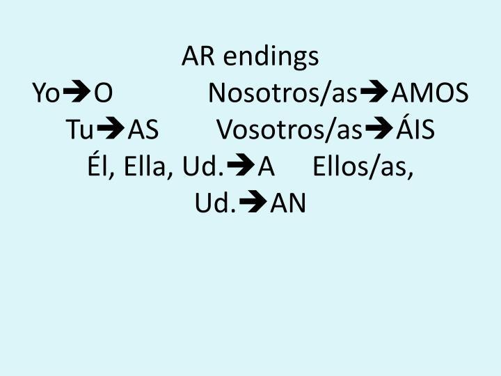 AR endings