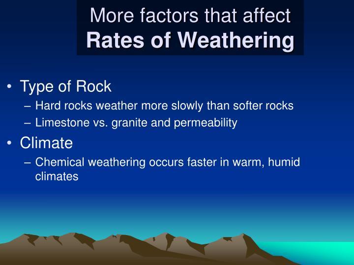 More factors that affect