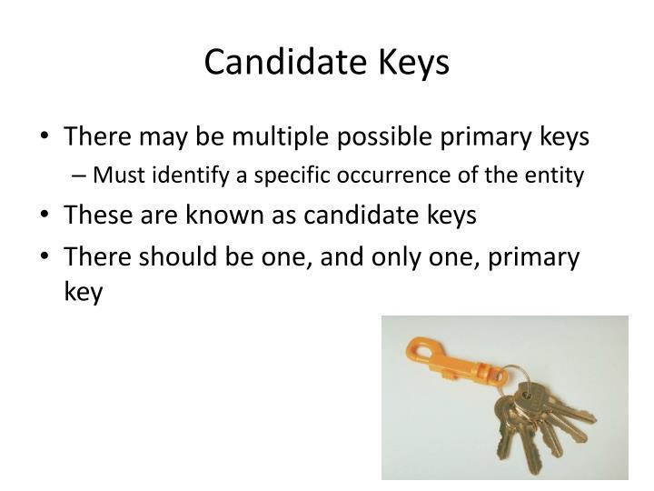 Candidate Keys