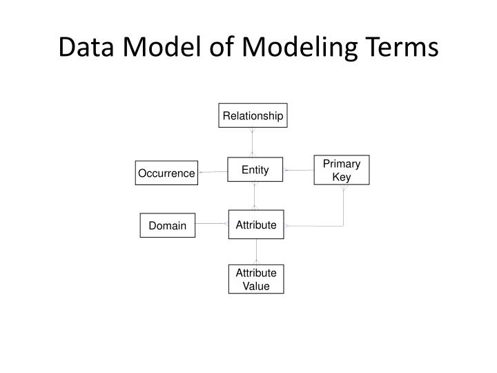 Data Model of Modeling Terms