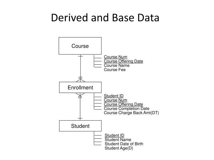 Derived and Base Data