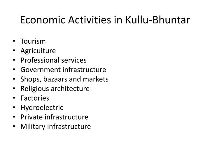 Economic Activities in